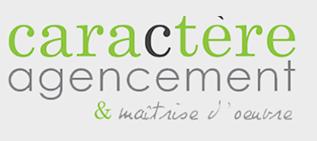 CARACTÈRE AGENCEMENT ET MAÎTRISE D'ŒUVRE Logo